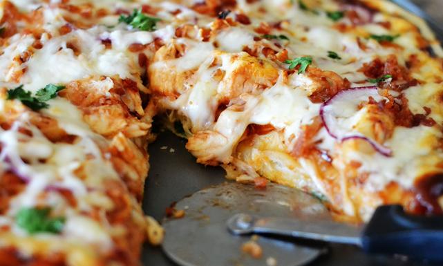 بيتزا بلدجاج والفول السوداني