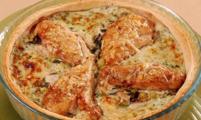 صينية دجاج بالكوسا والبشاميل شهية ولذيذة.!