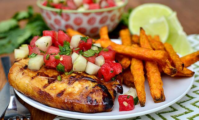 طريقة عمل صدور الدجاج بصلصة الصويا و الخضروات: وصفات دجاج بالصور
