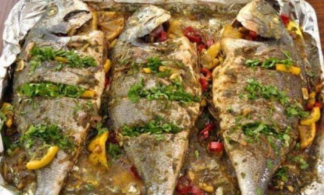 طريقة عمل صينية السمك البلطي بالفلفل الوان  0fishpepper0